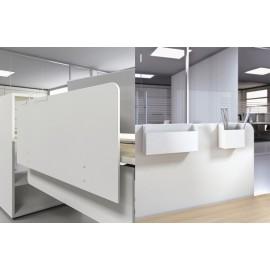 LOGIC 20 Schreibtisch Sichtschutz Paneel mit Ablagemöglichkeiten