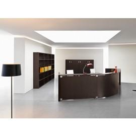 Mood 04 Büro Empfang, Theke, Rezeption in komplett Wenge Holz