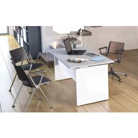 OXI 03 Berater Schreibtisch mit Sichtschutz, kompakt und preiswert