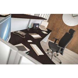 OXI 26 Tresen Schreibtisch in Wenge, Büro Empfangs-Theke, Bürotresen
