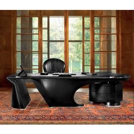 PRIOR 03 hochwertig handgefertigter Leder Schreibtisch, Luxus einzigartig