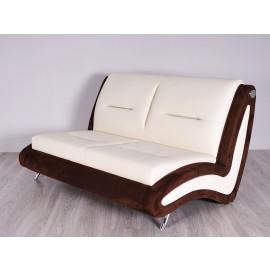 s-10  03 Lounge Sofa, 2-Sitzer, moderner-Stil, zweifarbig auf Kundenwunsch in Leder oder Stoff konfigurierbar, außergewöhnliche Sitzmöbel für Ihren Empfangsbereich, Warteraum oder Lounge