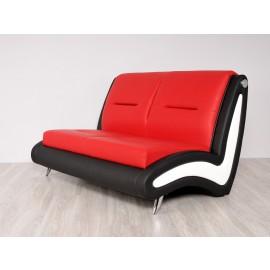s-10  05  Büro Lounge Sofa, modernes Design, zweifarbiges hochwertiges Leder oder Stoff Bezug möglich, exklusiv für Empfang oder Chillout Lounge
