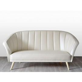 s-8  04 Design Leder-Sofa, 2-Sitzer hochwertig gearbeitet, individuell anpassbar
