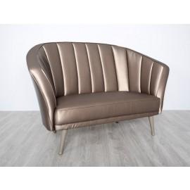s-8  06 Leder Sofa, 2-Sitzer, in vielen Farben verfügbar