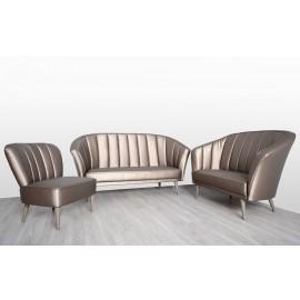 s-8  09 Polsterstuhl und Sofa Lounge Sitzgruppe, klassiches Design