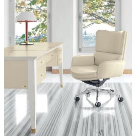 Splendour  04 klassischer, Leder-Konferenz und Besucher-Stuhl mit niedriger Rückenlehne