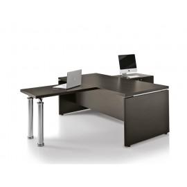 Studio 04 Chef-Schreibtisch in Wenge mit Front Meeting-Tisch Lösung