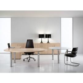 Studio 07 Design Büro Winkelschreibtisch, Eiche hell