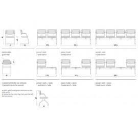 t-2 03 Sitzbank, Traversen Varianten