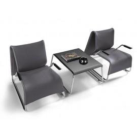 t-6/l-6 01 Wartesessel und Lounge-Sessel mit Kaffeetisch