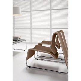 t-6  06 Designer Loungesessel, Sitzgruppe mit Verbinder verkettbar