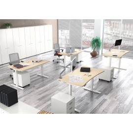 UP 03 Steh- Sitz- Schreibtisch mit Höhenverstellung, mechanischdurch Kurbel oder elektromotorisch, im modernen Design