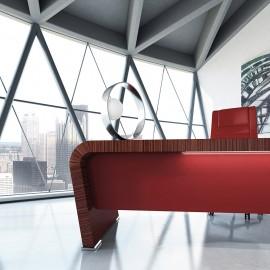 Vanity  11  hochwertiger Chef-Schreibtisch in Ebenholz, eleganter Tisch mit optionaler Beleuchtung