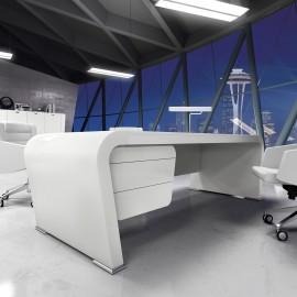 Vanity  13 stylischer Schreibtisch in Hochglanz weiß Design, Eleganz und Ästhetik