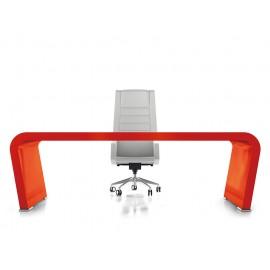 Vanity  14 Design Schreibtisch modern exklusiv Hochglanz lackiert in rot, Chefschreibtisch kann individuell in allen RAL Farben auf Kundenwunsch lackiert werden