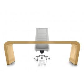 Vanity  16  Design Chef-Schreibtisch, modern und exklusiv in Hochglanz Beige lackiert, individuell lackierbar