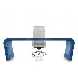 Vanity  17  Design Chef-Schreibtisch, exklusiv in Hochglanz blau 5000 RAL lackiert, individuell in jeder RAL Farbe lackierbar