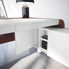 Vanity  24  Design Winkel-Schreibtisch mit raffiniert intelligent nutzbaren Ablagen und Stauraum