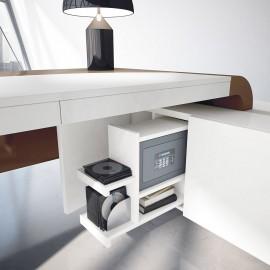 Vanity  25 Design Winkel-Schreibtisch mit  optional integriertem Dokumenten Tresor, dezent ausziehbar