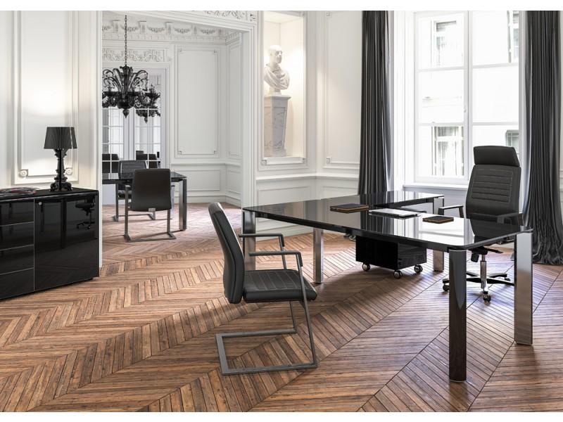Exklusive designer b rom bel glas chefschreibtisch hochwertig und preiswertes programm iulio hg - Buroeinrichtung modern ...