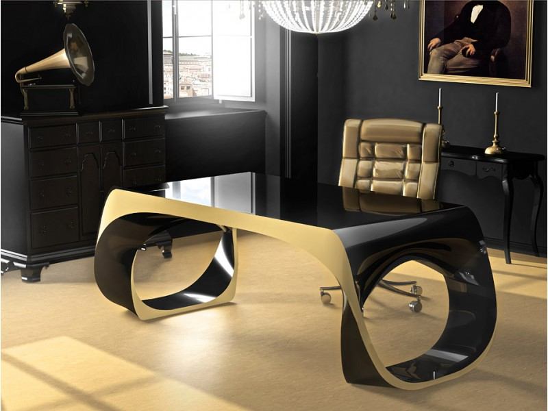 exklusiver designer schreibtisch chefm bel infinity. Black Bedroom Furniture Sets. Home Design Ideas