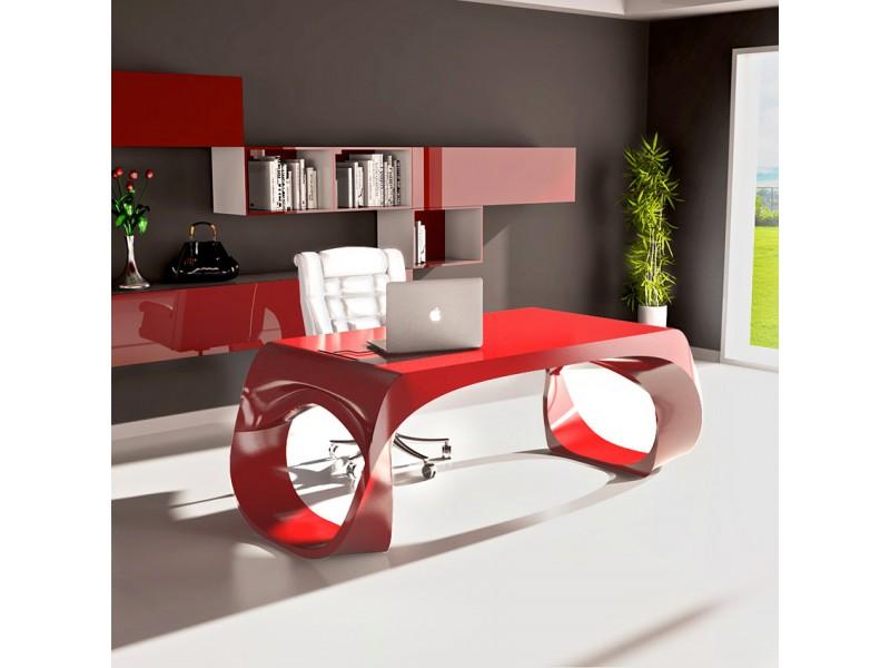 ... Infinity 05 Exklusiver Design Schreibtisch, Innovativ Und Individuell  In Purpurrot Lackiert, Aus Adamantx®