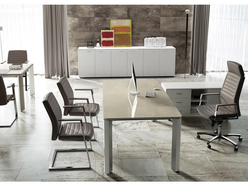 elegante Designer Büromöbel, Chef-Schreibtisch, hochwertig und ...