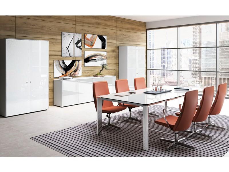 exklusive Designer Büromöbel, Glas Chefschreibtisch, hochwertig ...