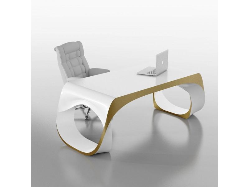Designer Schreibtisch Weiß exklusiver designer schreibtisch chefmöbel infinity