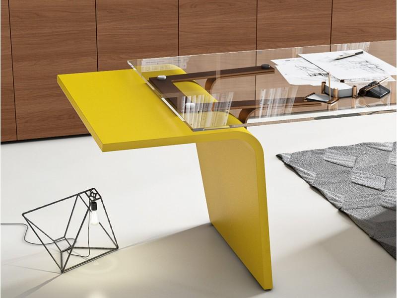 Stilvoller design schreibtisch larus tischgestell mit for Design tischgestell