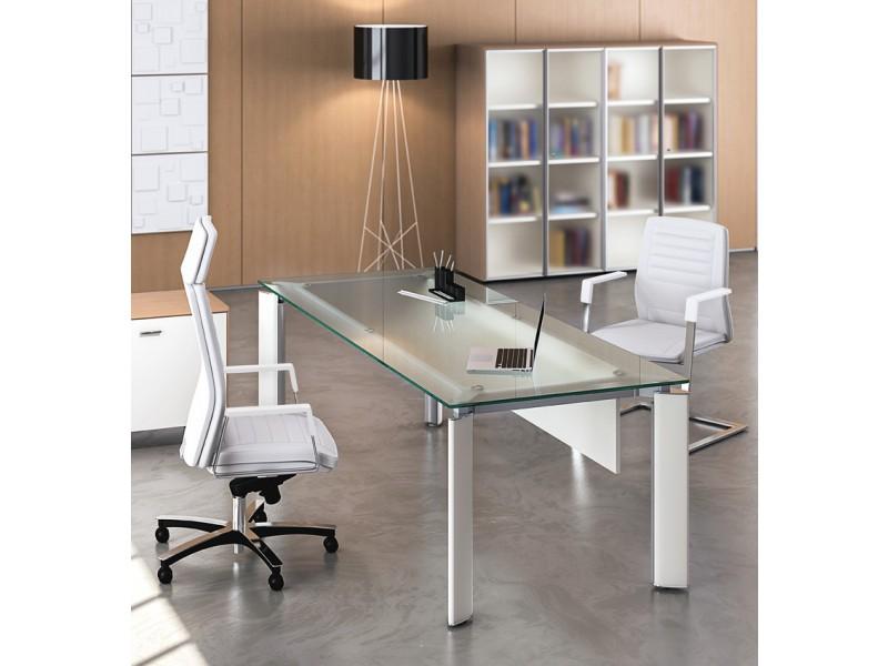 ... FILL EVO 08 Design Glas Schreibtisch, Exklusives Arztzimmer Und  Sprechzimmer, Glas Tisch ...