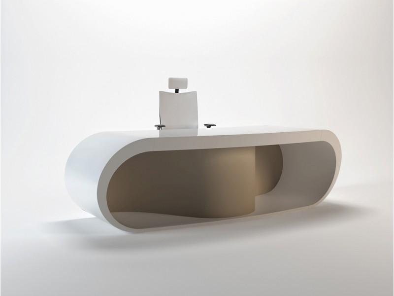 Goggle designer chefzimmer for Schreibtisch rund