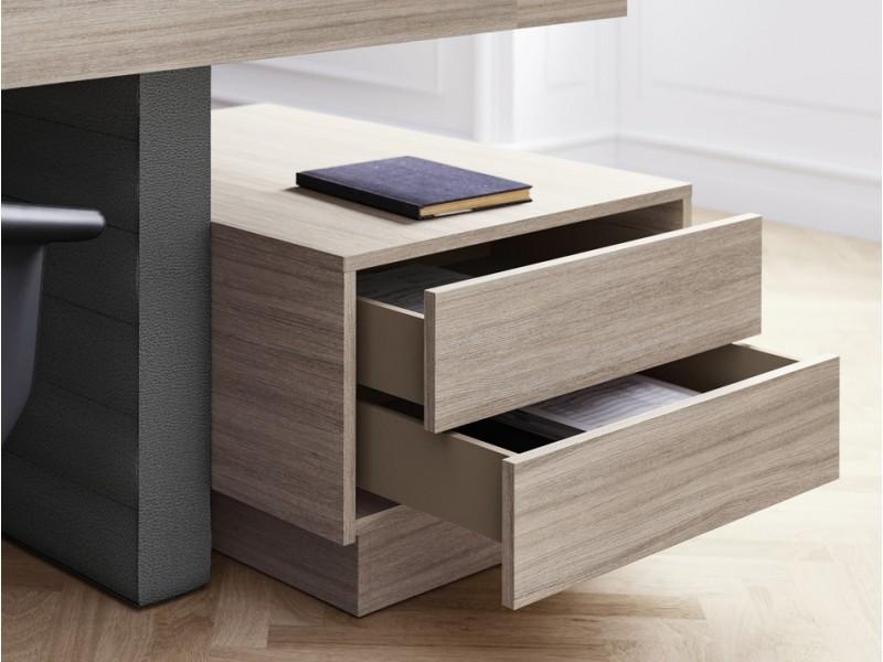 Elegant stilvoller designer schreibtisch jera for Schreibtisch container design