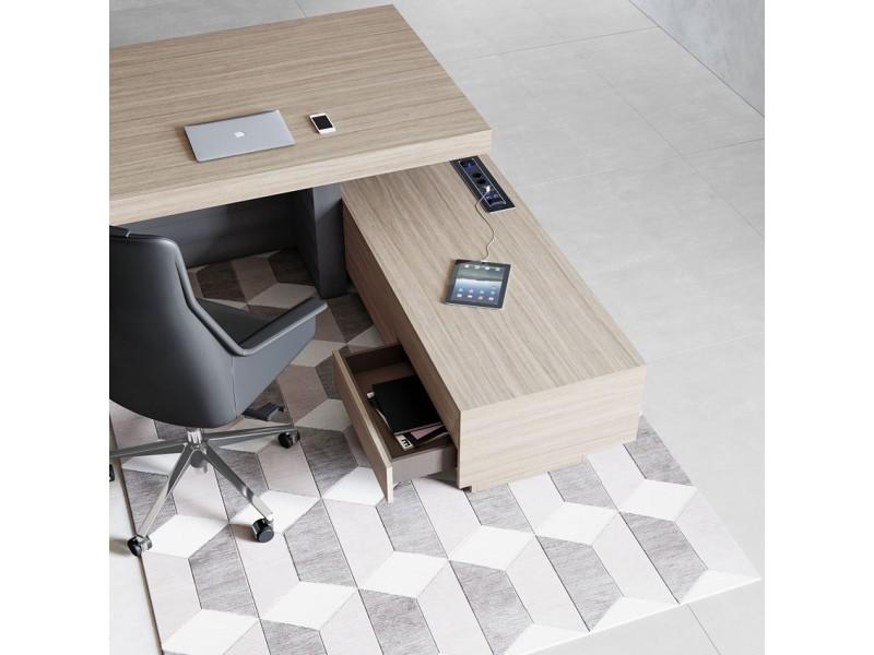 Eckschreibtisch design  elegant stilvoller Designer Schreibtisch - JERA , einzigartig ...