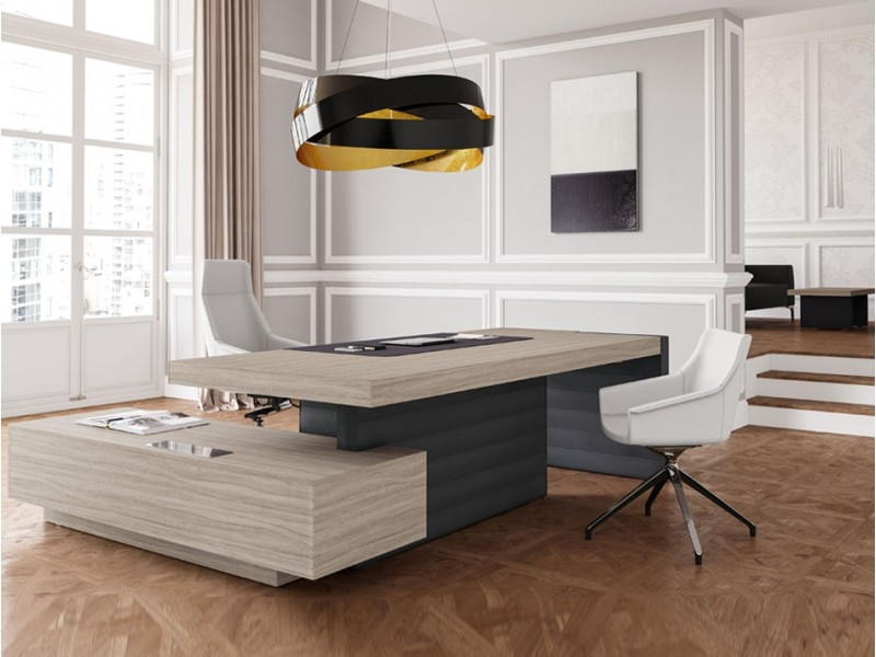 elegant stilvoller designer schreibtisch jera einzigartig eindrucksvolles aussehen. Black Bedroom Furniture Sets. Home Design Ideas