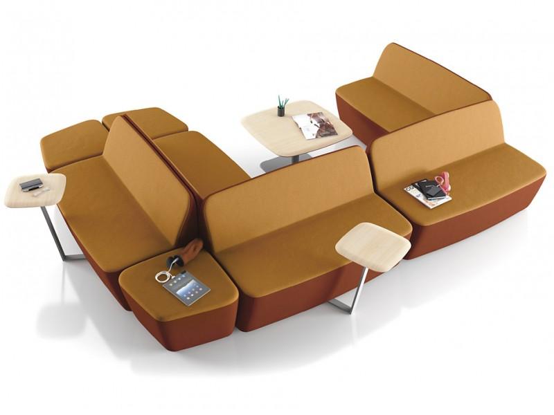 L 1 design lounge sofa sessel mit l rm und for Sessel wartebereich