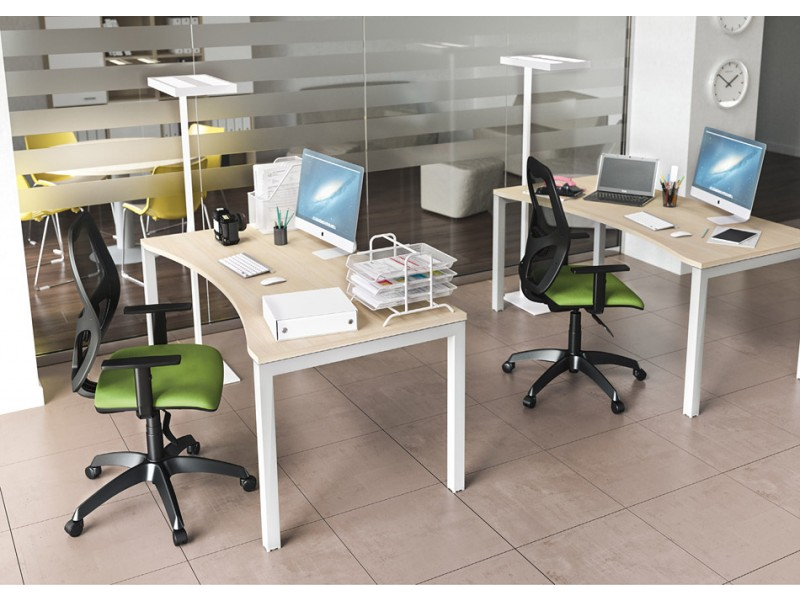 ... OXI 08 Schreibtisch Mit Ergonomischer Tischplatte, U Gestell,  Schreibtisch, Schulungsraum ...