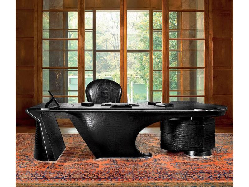 luxus schreibtisch komplett mit leder handgearbeitet. Black Bedroom Furniture Sets. Home Design Ideas