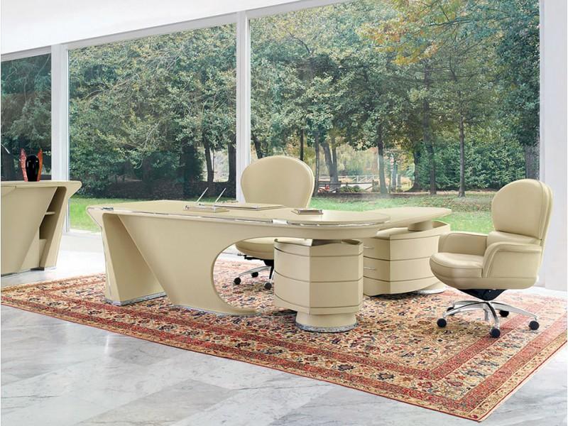 Schön ... PRIOR Desk 02 Exklusiver Designer Büro Schreibtisch, Komplett In Leder  Liebevoll Aus Meisterhand Gearbeitet ...