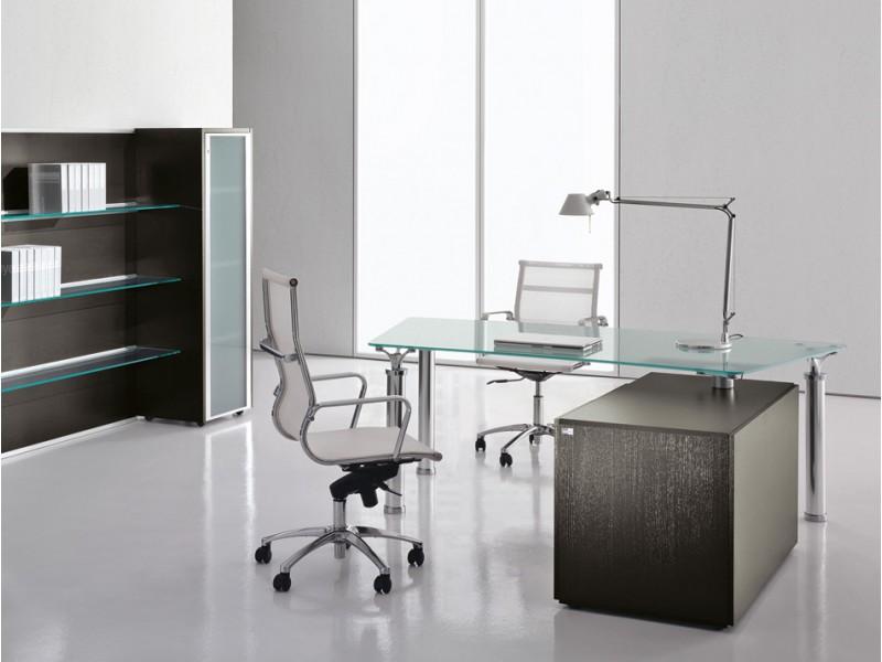 Designer glas schreibtisch chef m bel studio for Schreibtisch chef