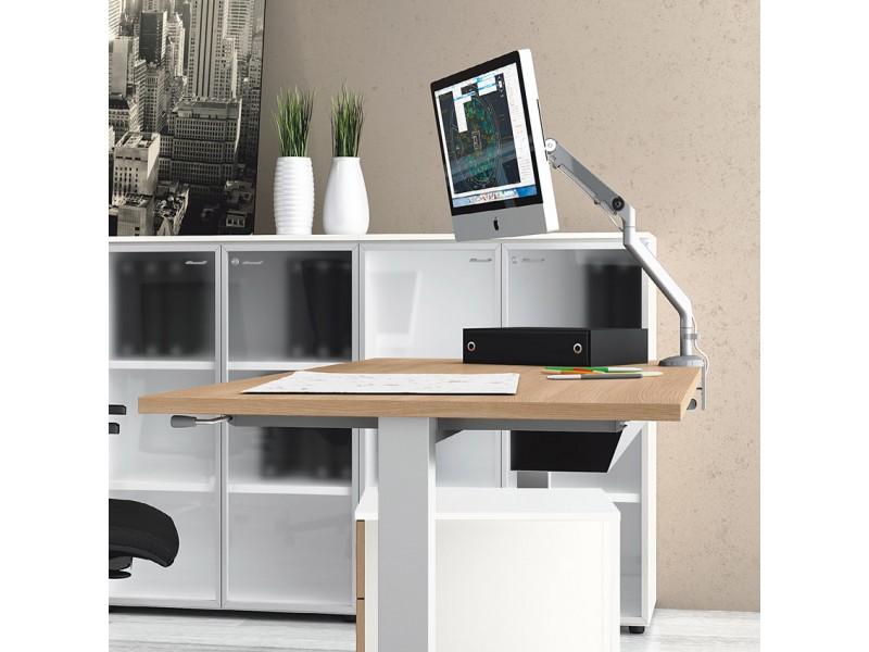 up h henverstellbares schreibtisch system steh sitz arbeitsplatz. Black Bedroom Furniture Sets. Home Design Ideas