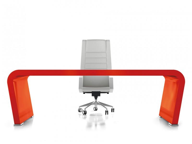 Elegant stilvoller designer schreibtisch vanity design for Schreibtisch rot lack