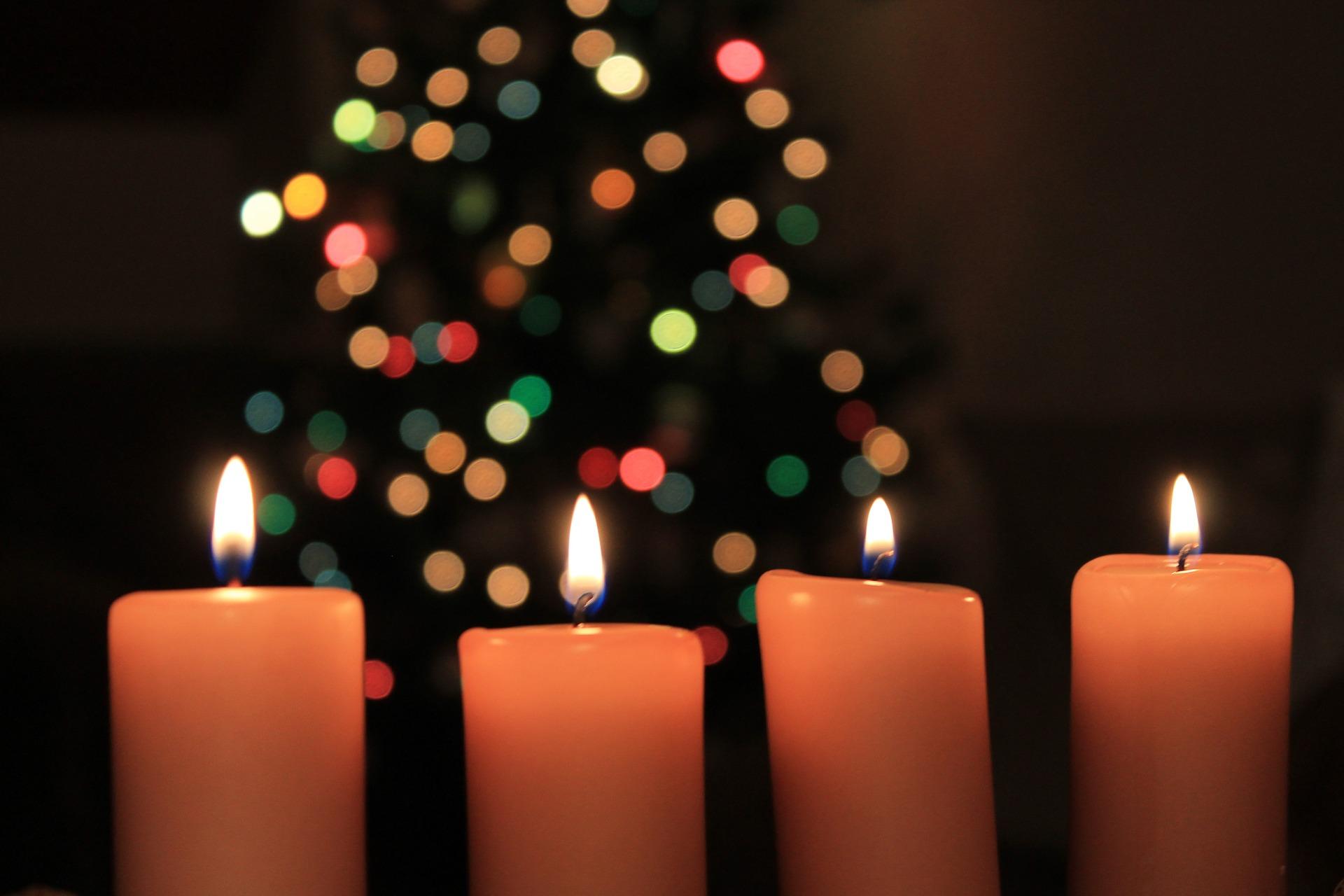 Echte Kerzen an Weihnachten