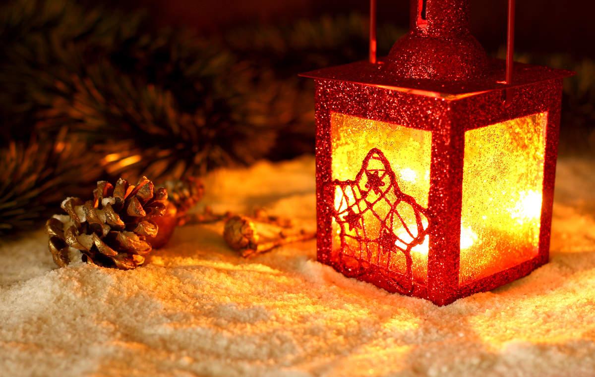 LED Kerzen an Weihnachten