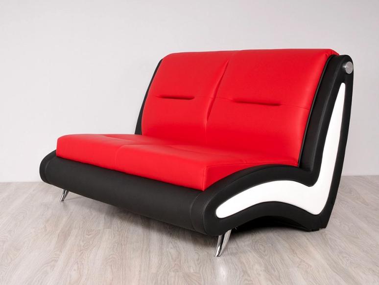 S-10-Lounge Sofa von Ukamo in Rot, Weiß, Schwarz