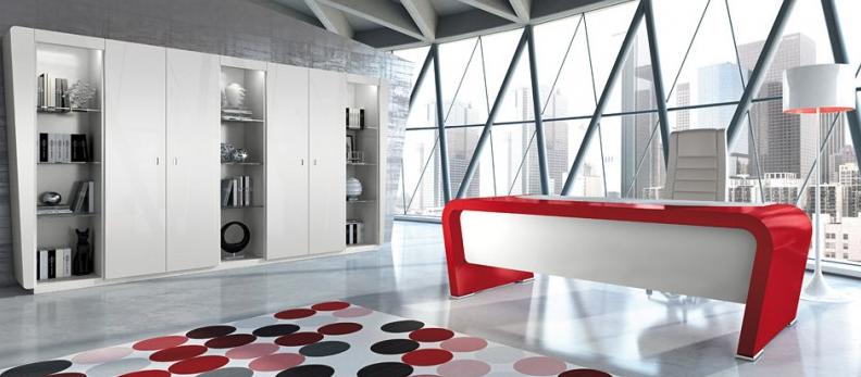 Vanity Schreibtisch in Rot Weiß