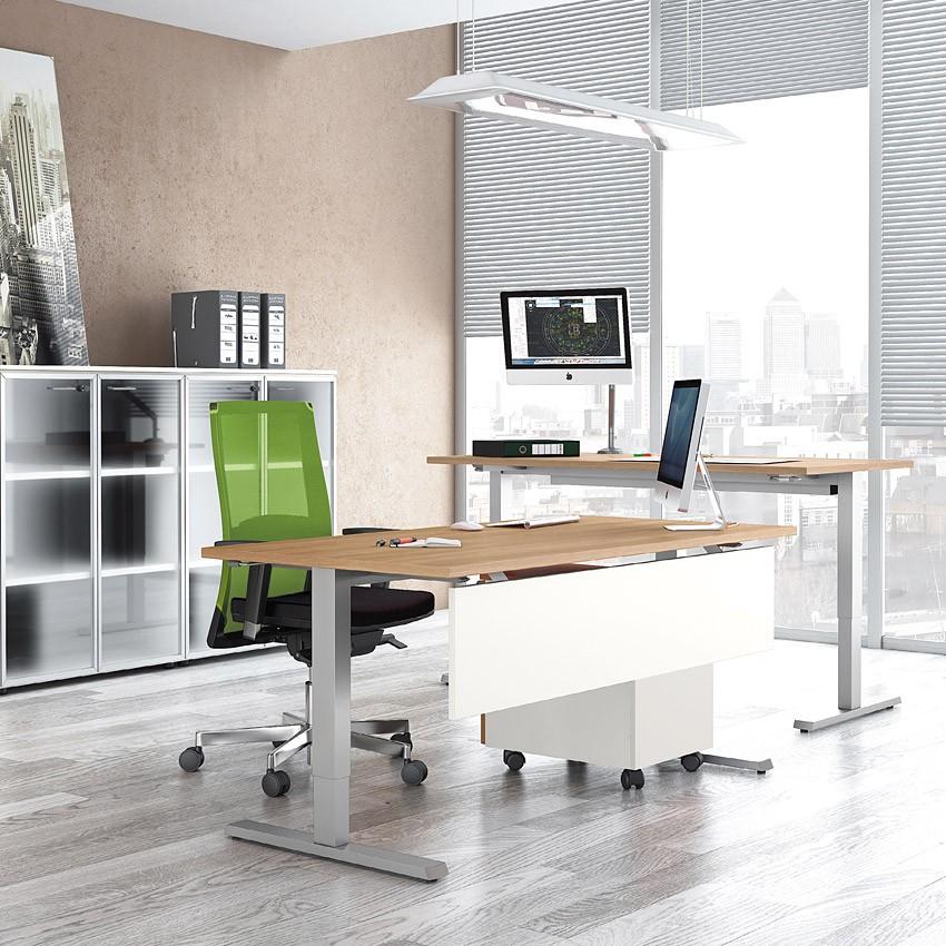 up h henverstellbares schreibtisch system steh sitz. Black Bedroom Furniture Sets. Home Design Ideas