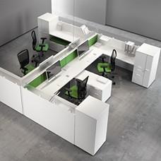Fly, Teamarbeitsplatz, Schallschutz Schreibtisch