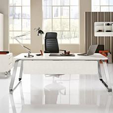 einzigartiger Retrodesign Chef-Schreibtisch, klassisch für Führungspersönlichkeiten